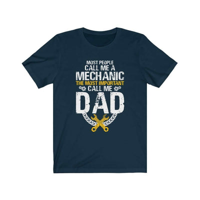 father's day gift t-shirt, mechanic navy tshirt with saying, funny mechanic tee, the best father's day gift