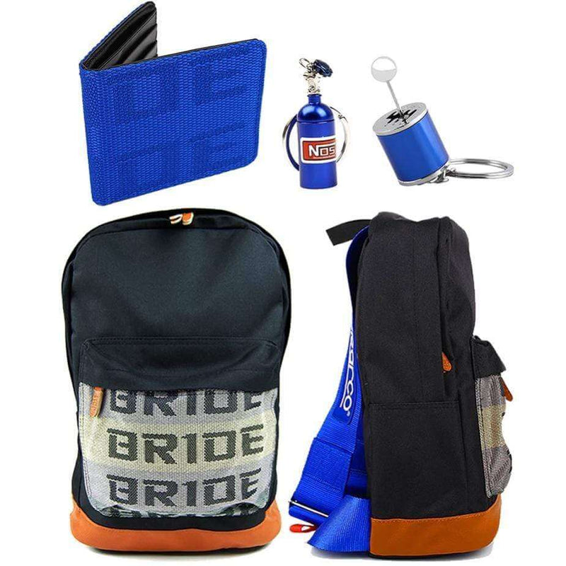 SP Combo Blue - Bride Backpack, Wallet and Keychains