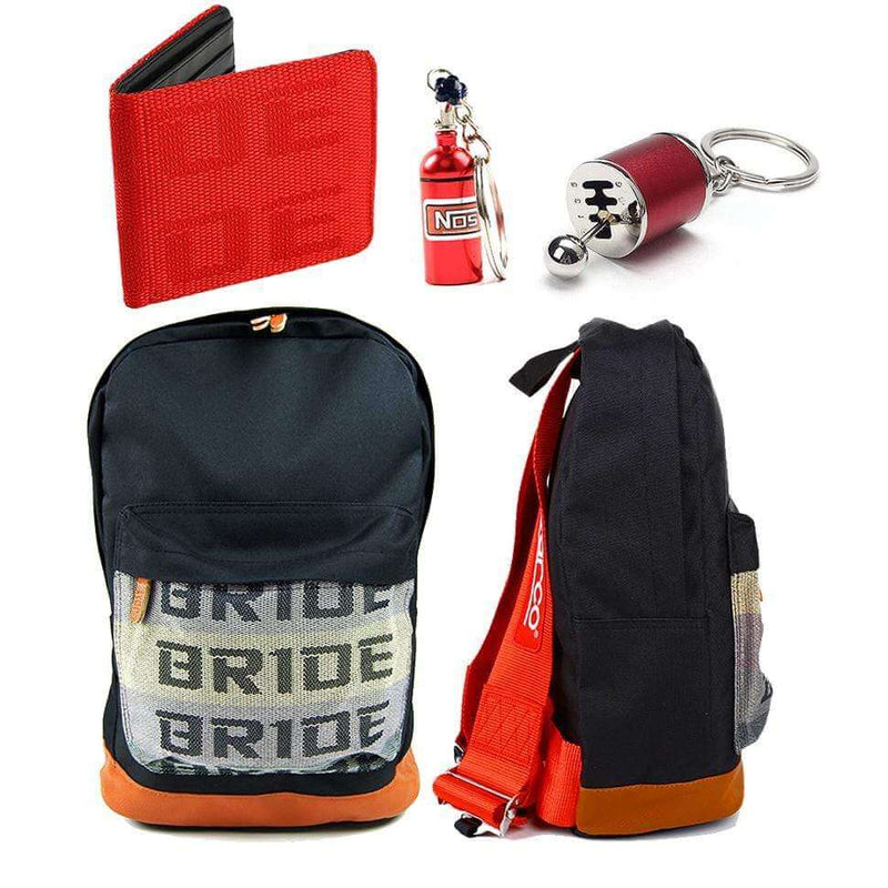 SP Combo Red - Bride Backpack, Wallet and Keychains