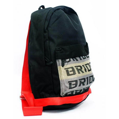 JDM backpack with red racing harness shoulder straps, the perfect school backpack, the best school bag, racing backpack made for car enthusiasts, bride backpack with authentic racing harness straps, car guys love it, the perfect gift for your favorite car enthusiast, back to school sale