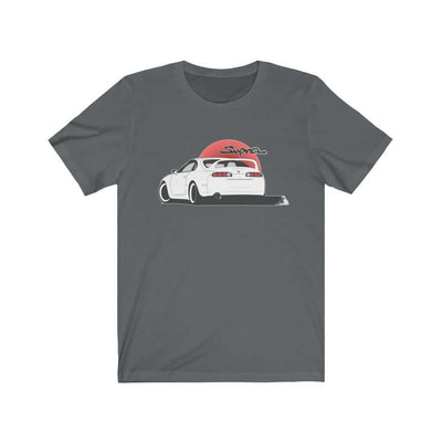 Japanese car printed on dark grey car t-shirt, JDM tee, car guy gift, car lover, car fan, car enthusiast, petrolhead, JDM lover, boyfriend gift idea