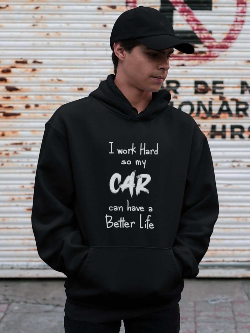 Car Guys black hoodie with funny text printed on it, JDM sweatshirt, car guy gift, car lover, car fan, car enthusiast, petrolhead, JDM lover, boyfriend gift idea