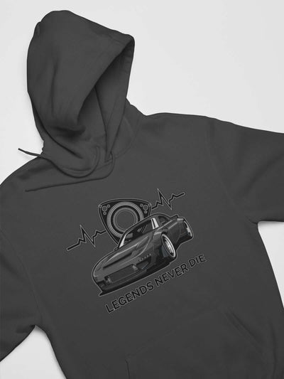 Japanese engine printed on dark grey car hoodie, JDM sweatshirt, car guy gift, car lover, car fan, car enthusiast, petrolhead, JDM lover, boyfriend gift idea