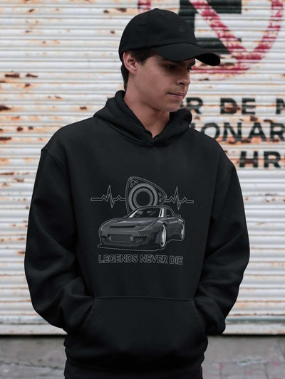 Japanese engine printed on black car hoodie, JDM sweatshirt, car guy gift, car lover, car fan, car enthusiast, petrolhead, JDM lover, boyfriend gift idea