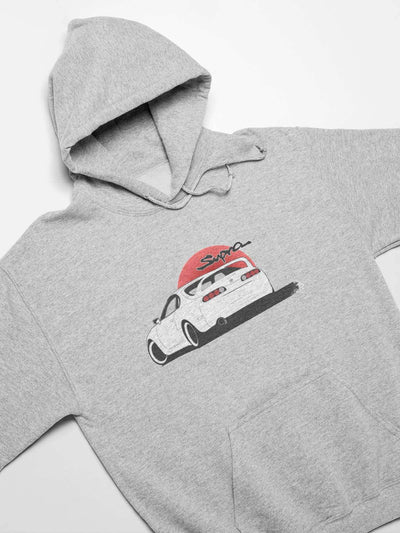 Japanese car printed on athletic heather car hoodie, JDM sweatshirt, car guy gift, car lover, car fan, car enthusiast, petrolhead, JDM lover, boyfriend gift idea