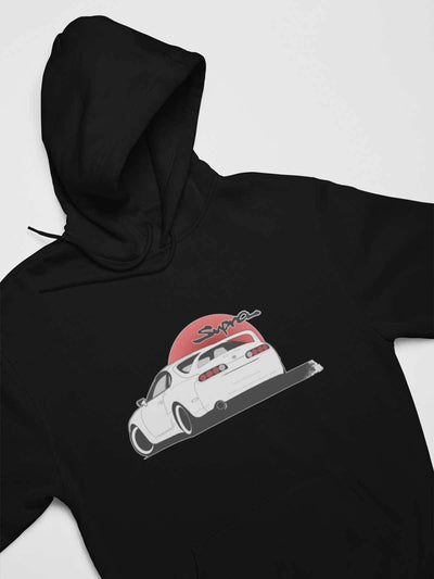 Japanese car printed on black car hoodie, JDM sweatshirt, car guy gift, car lover, car fan, car enthusiast, petrolhead, JDM lover, boyfriend gift idea