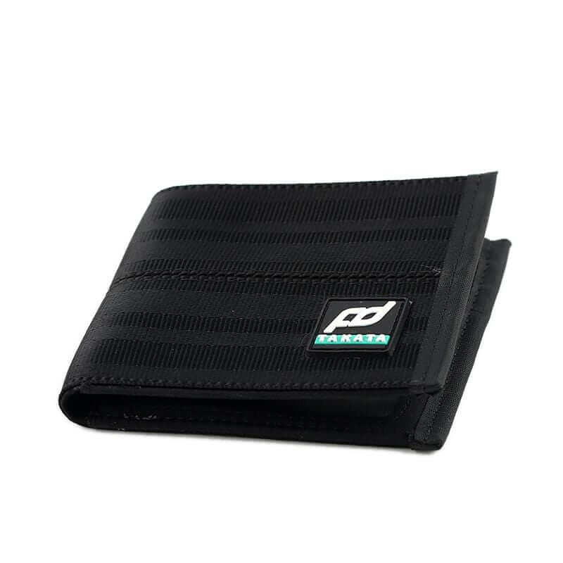 racing FD car wallet in black, racing seat material wallet, authentic racing fabric material, black interior, plenty of storage for cash and credit cards,