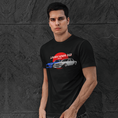 Japanese cars printed on black car t-shirt, JDM tee, car guy gift, car lover, car fan, car enthusiast, petrolhead, JDM lover, boyfriend gift idea