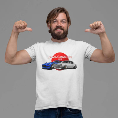 Japanese cars printed on white car t-shirt, JDM tee, car guy gift, car lover, car fan, car enthusiast, petrolhead, JDM lover, boyfriend gift idea