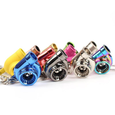 turbo keychains in many colors made for car guys, car keychain, keychains for car keys, keychains for men