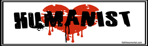 HUMANIST Bleeding Heart Bumper Sticker