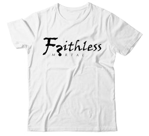 Faithless Mortal Classic Signature Atheist T-Shirt - Faithless Mortal Clothing