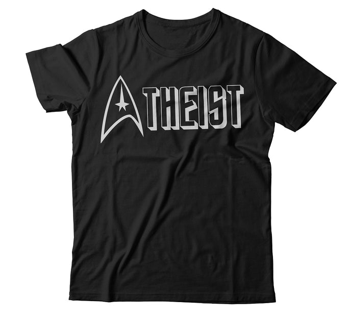 TREKKIE Star Trek Inspired Atheist T-Shirt - Faithless Mortal Clothing