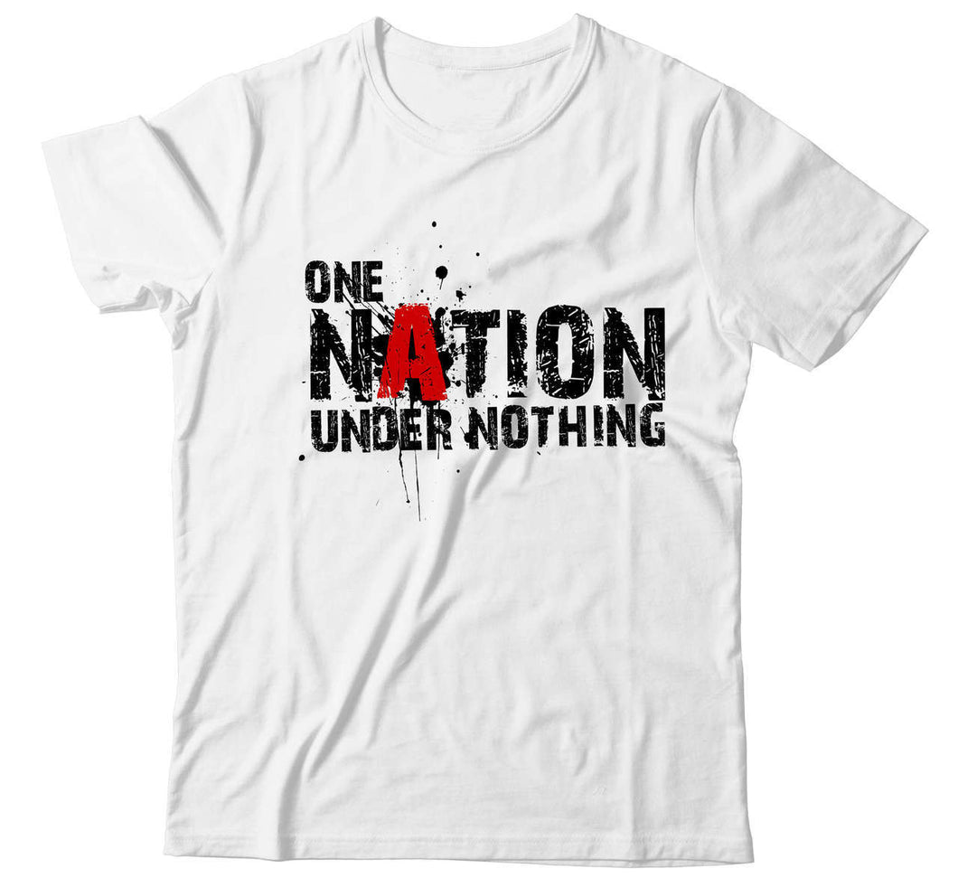 Men's ONE NATION UNDER NOTHING Atheist T-Shirt - Faithless Mortal Clothing