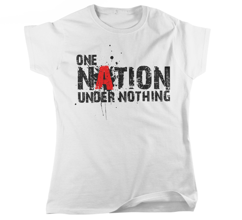 Women's ONE NATION UNDER NOTHING Graphic Fitted T-Shirt