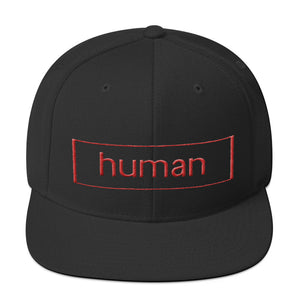 Human Snapback Hat - Faithless Mortal Clothing