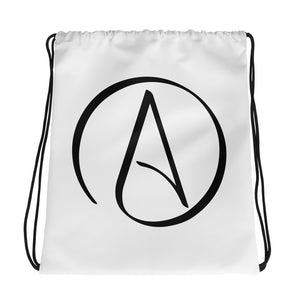 ATHEIST SYMBOL Drawstring bag - Faithless Mortal Clothing