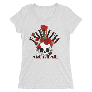 Women's Fitted BONES N ROSES T-shirt - Faithless Mortal Clothing