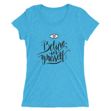 BELIEVE Women's Atheist T-Shirt - Faithless Mortal Clothing