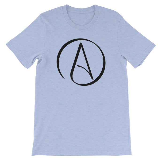 Atheist Symbol T-Shirt - Light - Faithless Mortal Clothing