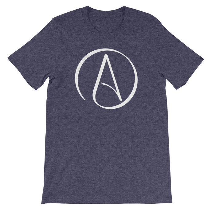 Atheist Symbol T-Shirt - Dark - Faithless Mortal Clothing