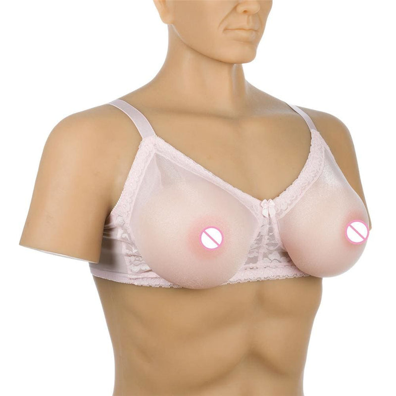 1600g Breasts (Nude Round) + Pocket Bra (Pink) Pocket Bra + Breasts