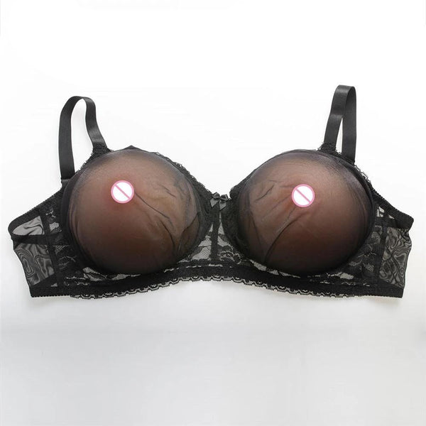 2400g Breasts (Nude Round) + Pocket Bra (Black) Pocket Bra + Breasts