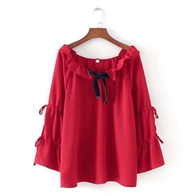 Blouse Queen Spell (2 Colors) Red / 4XL Blouse