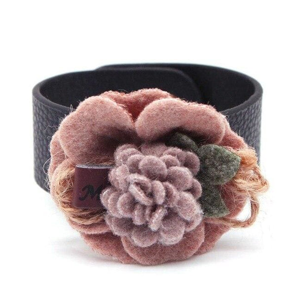 Bracelet Drag Flower (3 Colors) Pink Bracelet