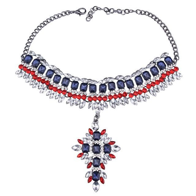 Choker Drag Dubai (2 Variants) Red and Blue Choker