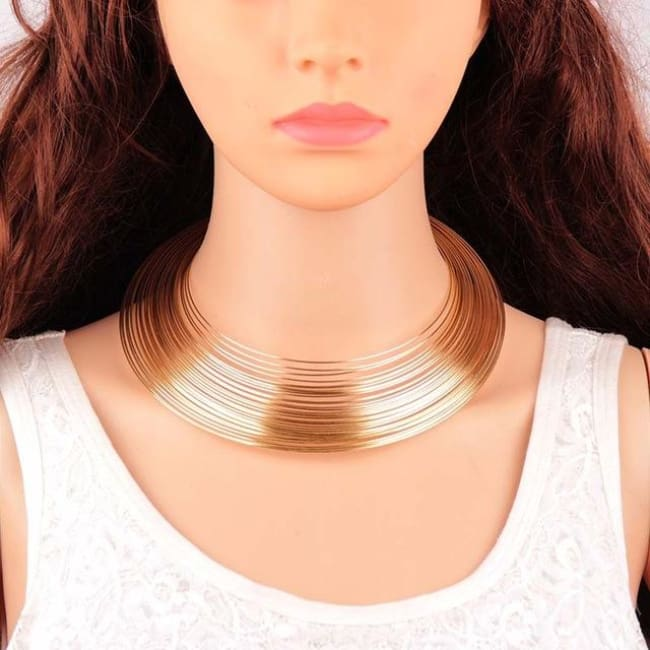 Choker Drag Saturn (Golden or Silvery) Golden Choker