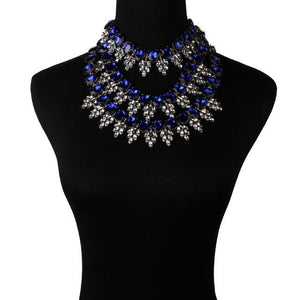 Choker Drag Teardrops (7 Colors) Royal Blue Choker