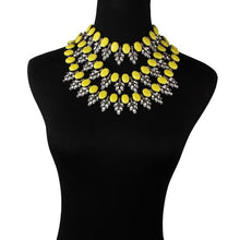 Load image into Gallery viewer, Choker Drag Teardrops (7 Colors) Yellow Choker
