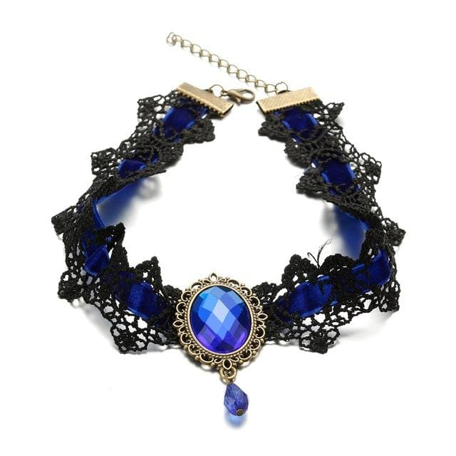 Choker Drag Veronique (5 Colors) Blue Choker