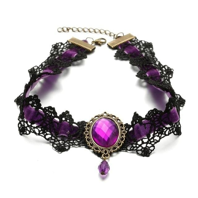 Choker Drag Veronique (5 Colors) Purple Choker
