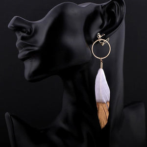 Clip Earrings Drag Cherokee (White or Black) Earrings