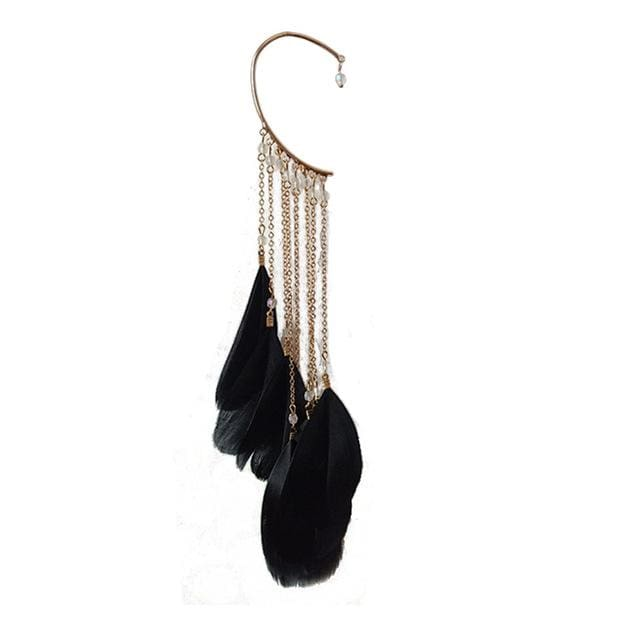 Clip Earrings Drag Mohegan (5 Colors) Black Earrings