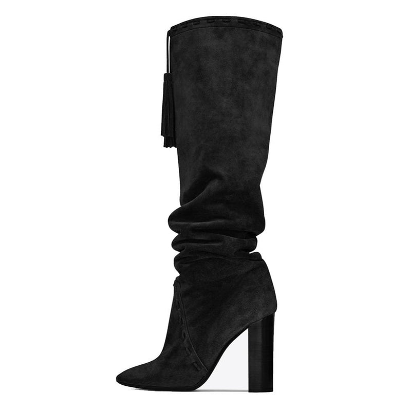 Drag Boots Kacey (Brown or Black) Black / 4 Boots