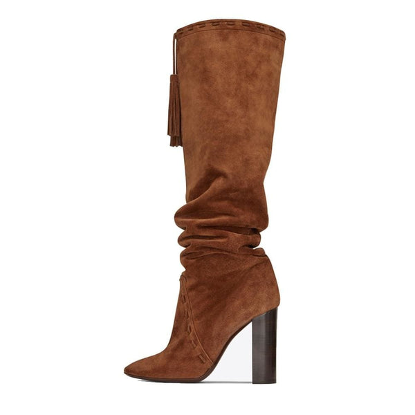 Drag Boots Kacey (Brown or Black) Brown / 4 Boots