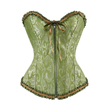 Load image into Gallery viewer, Drag Corset Cruela (5 Colors) Green / XXXL Corset