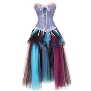 Drag Corset Dress Maiden (6 Variants) Blue Pink & Multicolor / XXL Corset Dress
