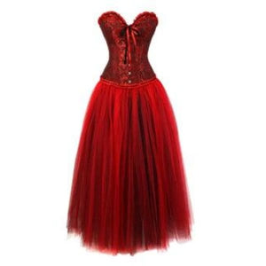 Drag Corset Dress Maiden (6 Variants) Red / XXL Corset Dress