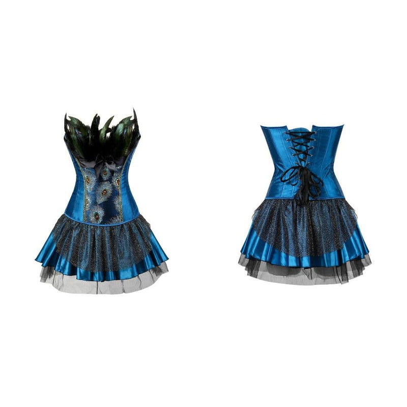 Drag Corset Dress Peacock (3 Variants) Corset Dress