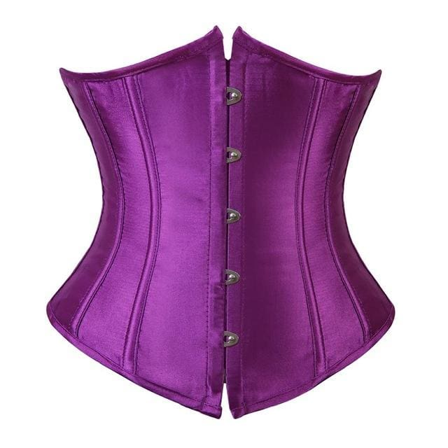 Drag Corset Satin (7 Colors) Purple / S Corset