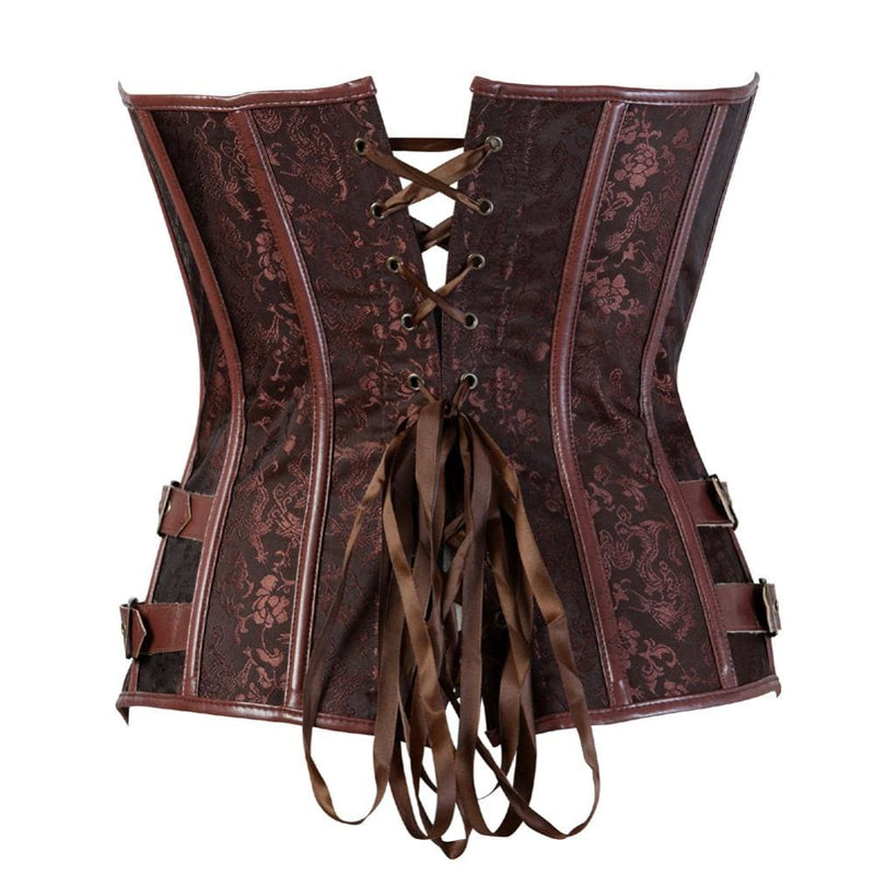 Drag Corset Vamp (Black or Brown) Corset