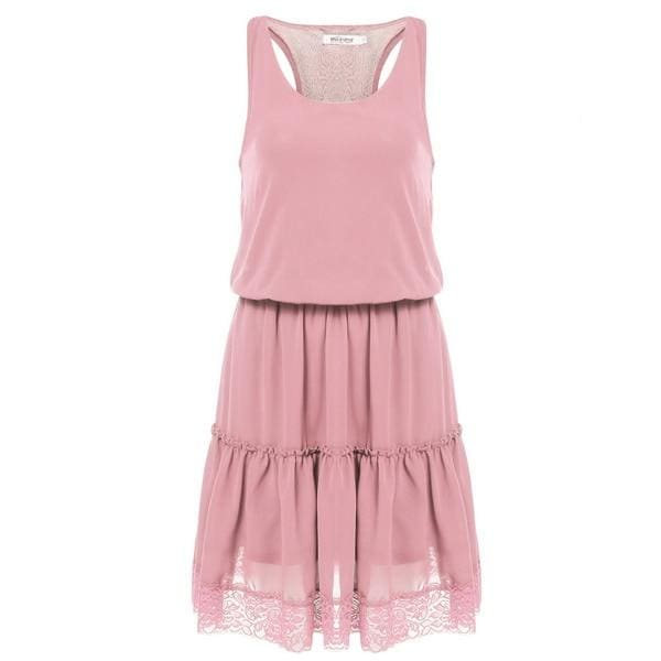 Drag Dress Casual (3 Colors) Pink / L Dress