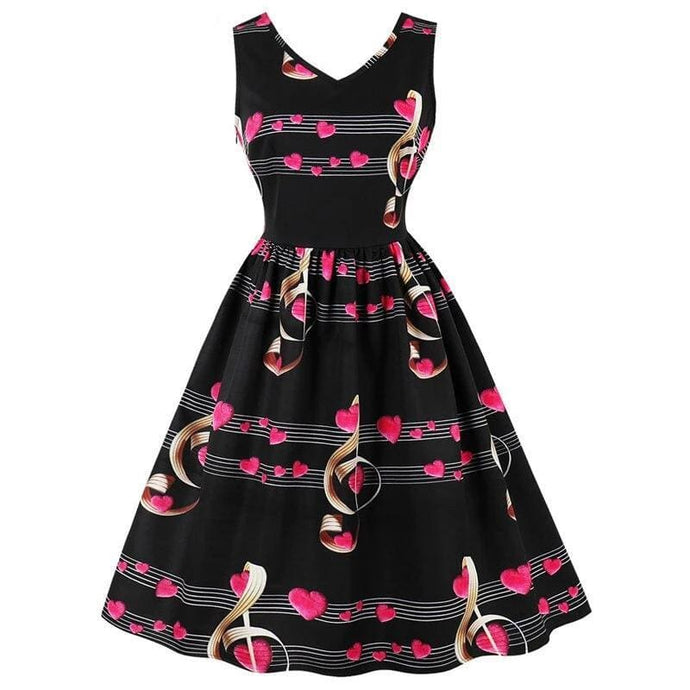 Drag Dress Musical Black / S Dress