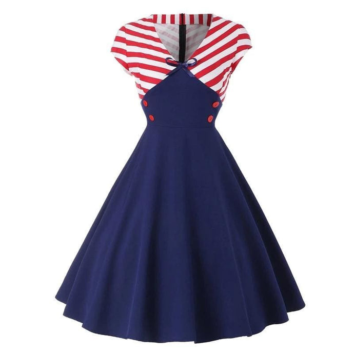 Drag Dress Sailor Navy Blue / L Dress