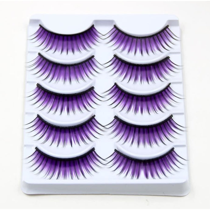 Drag Eyelashes Purple Rain (5 Pairs) Eyelashes