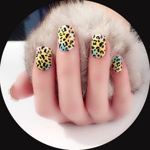 Drag Nails Leopard (24 Pieces) Nail Tips